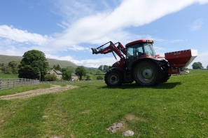 A tractor at Hawes